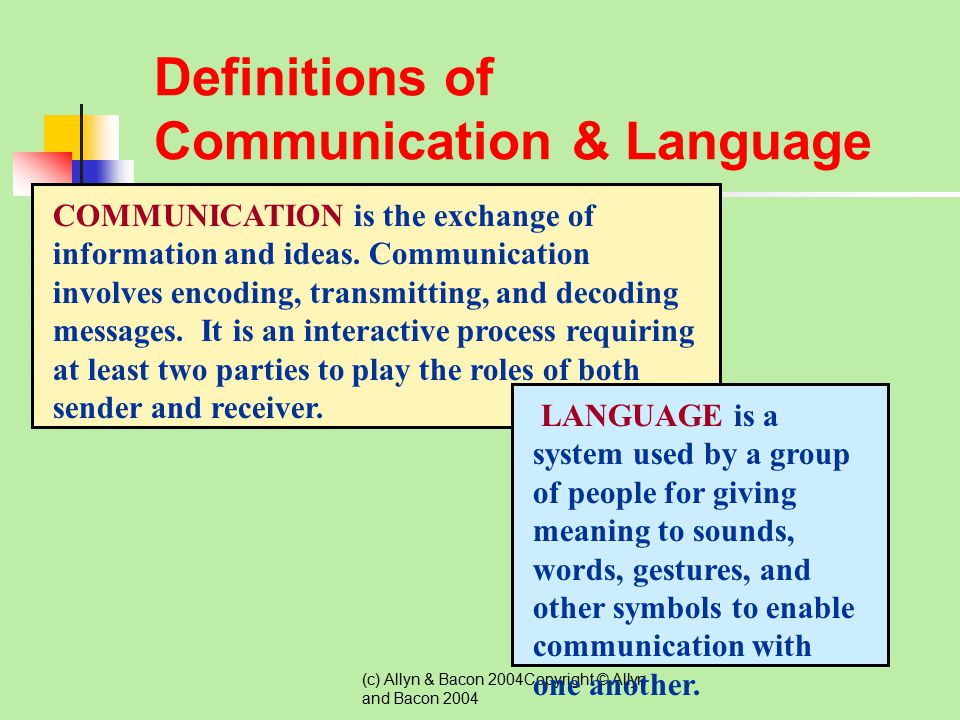Definitions of Communication & Language