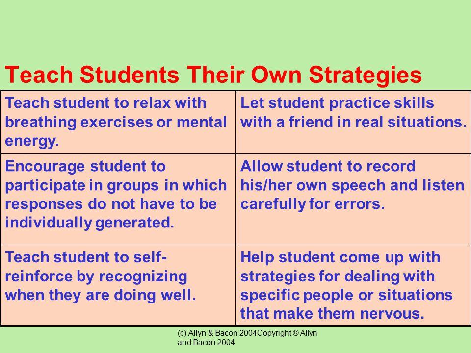 Teach Students Their Own Strategies