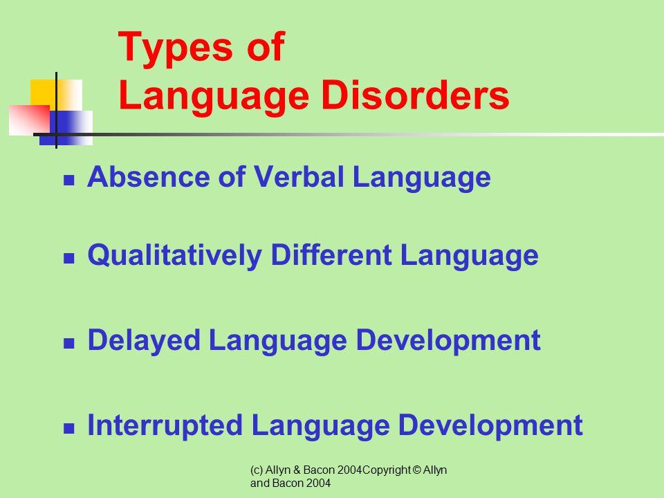 Types of Language Disorders