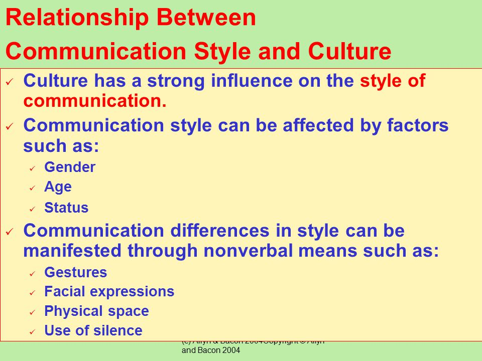 Relationship Between Communication Style and Culture