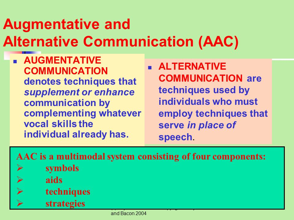 Augmentative and Alternative Communication (AAC)