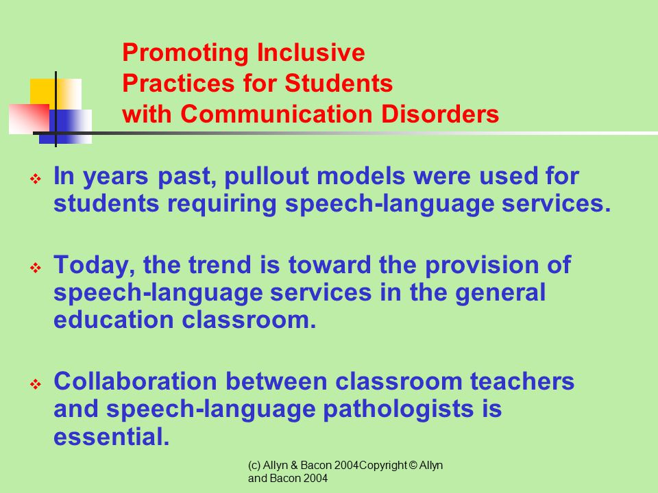 Promoting Inclusive Practices for Students with Communication Disorders