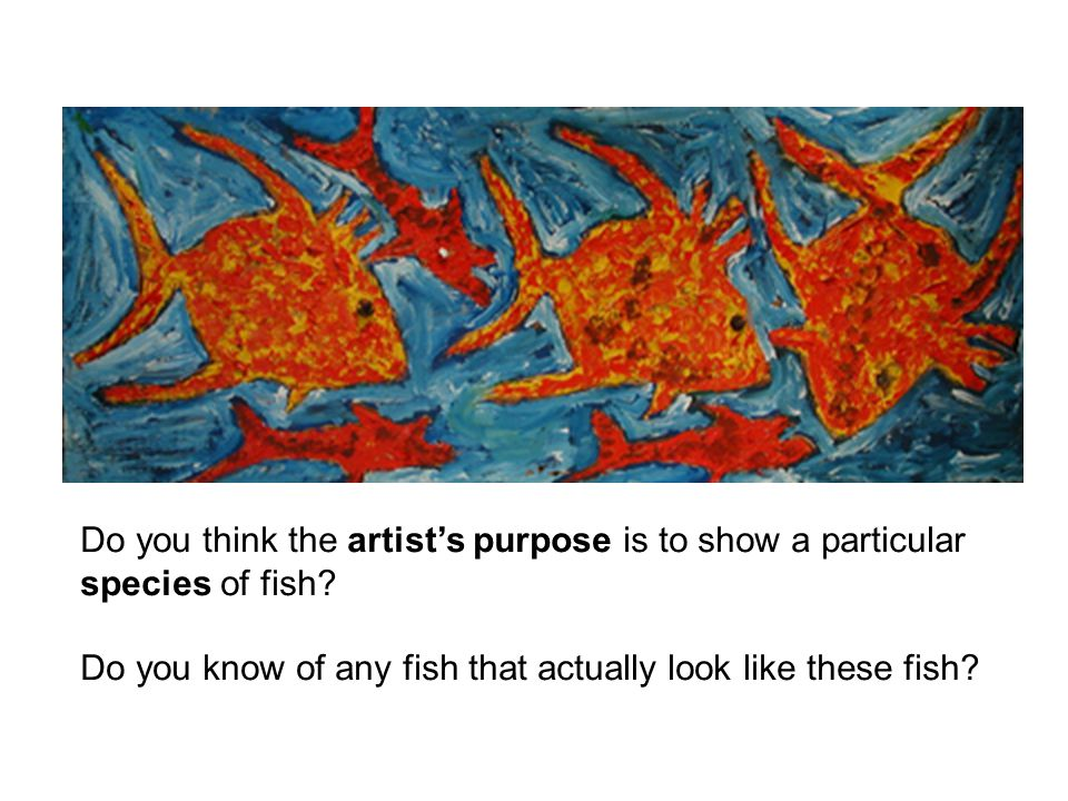 Do you think the artist's purpose is to show a particular