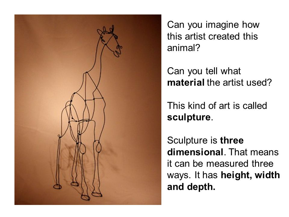 Can you imagine how this artist created this. animal Can you tell what. material the artist used