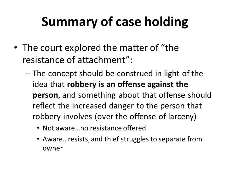 Summary of case holding