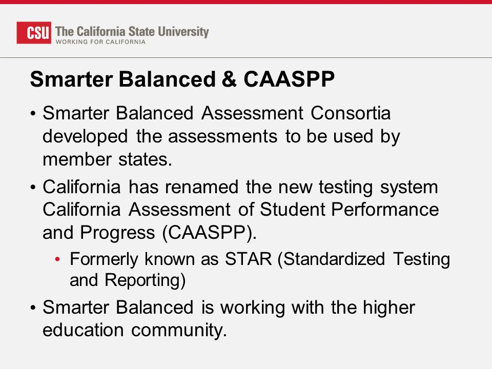 Smarter Balanced & CAASPP