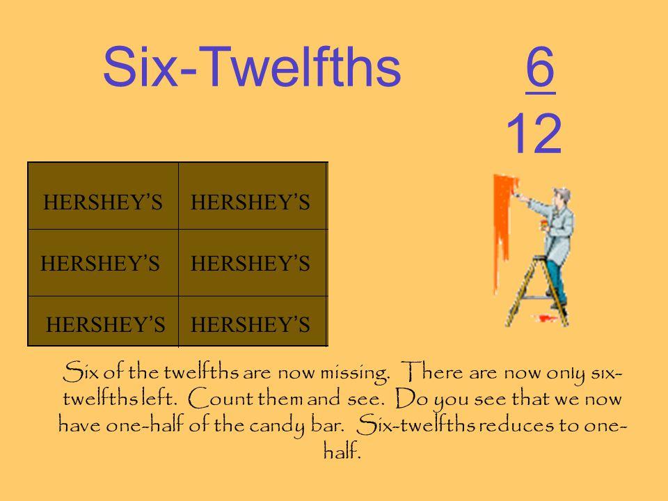 Six-Twelfths 6 12 HERSHEY'S HERSHEY'S HERSHEY'S HERSHEY'S HERSHEY'S