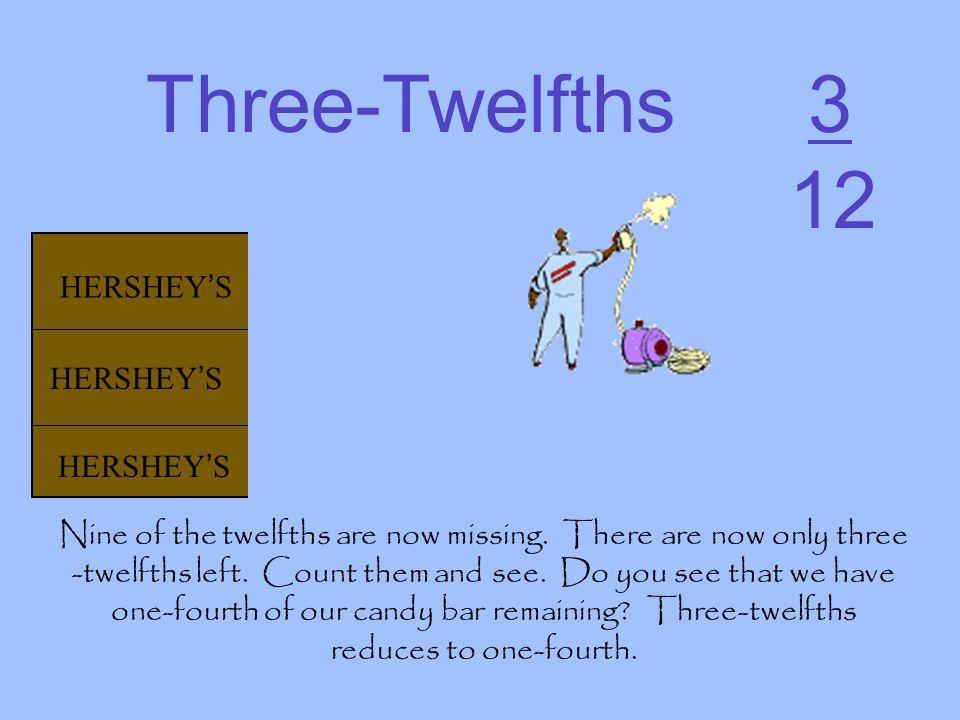 Three-Twelfths 3 12 HERSHEY'S HERSHEY'S HERSHEY'S HERSHEY'S HERSHEY'S