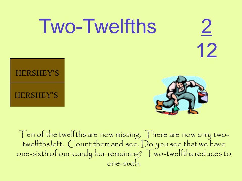 Two-Twelfths 2 12 HERSHEY'S HERSHEY'S HERSHEY'S HERSHEY'S HERSHEY'S