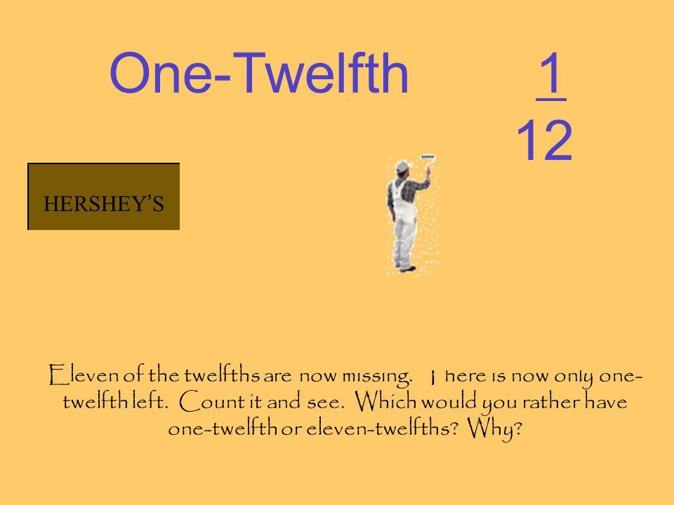 One-Twelfth 1 12 HERSHEY'S HERSHEY'S HERSHEY'S HERSHEY'S HERSHEY'S