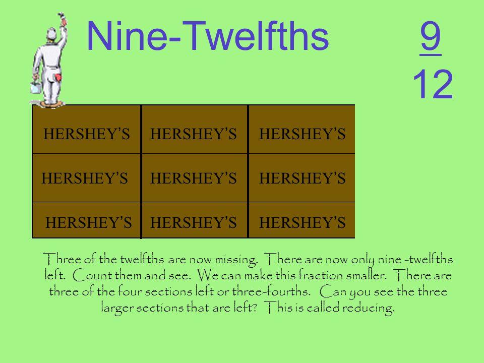 Nine-Twelfths 9 12 HERSHEY'S HERSHEY'S HERSHEY'S HERSHEY'S HERSHEY'S