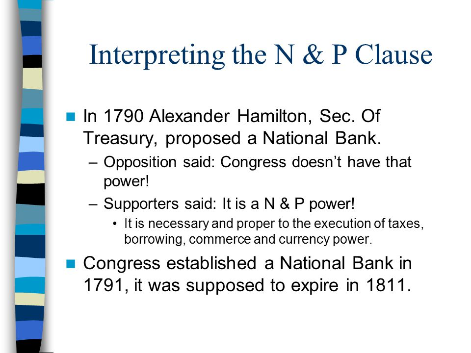 Interpreting the N & P Clause