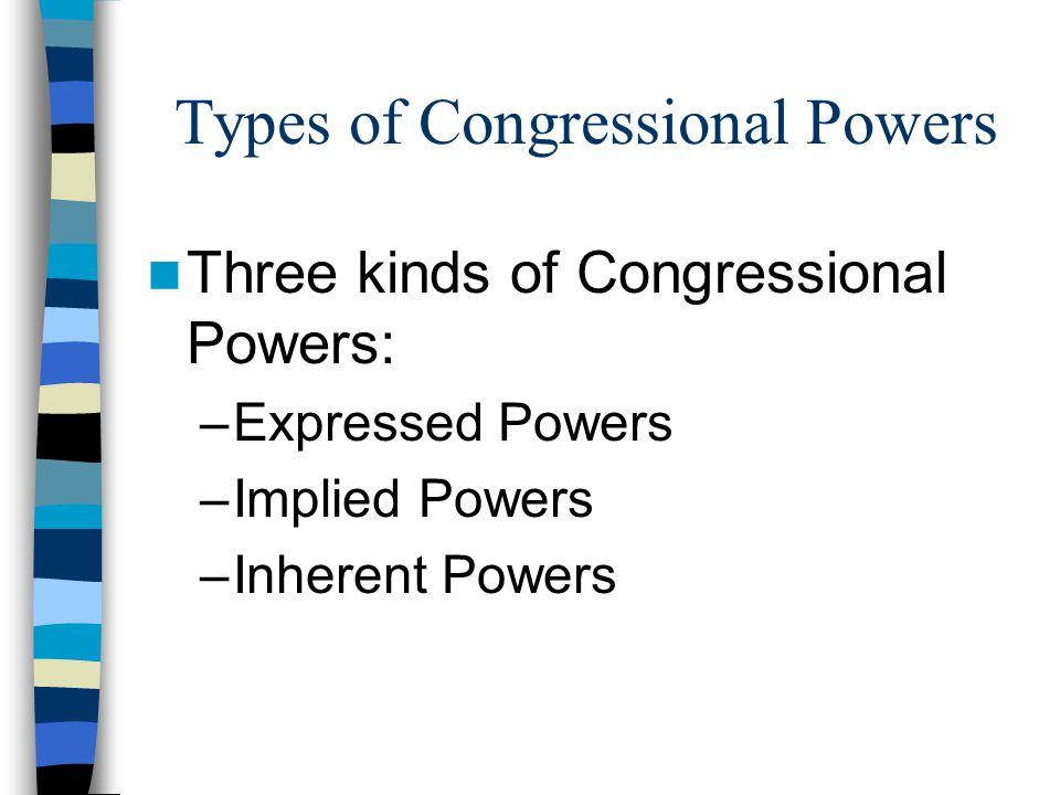 Types of Congressional Powers