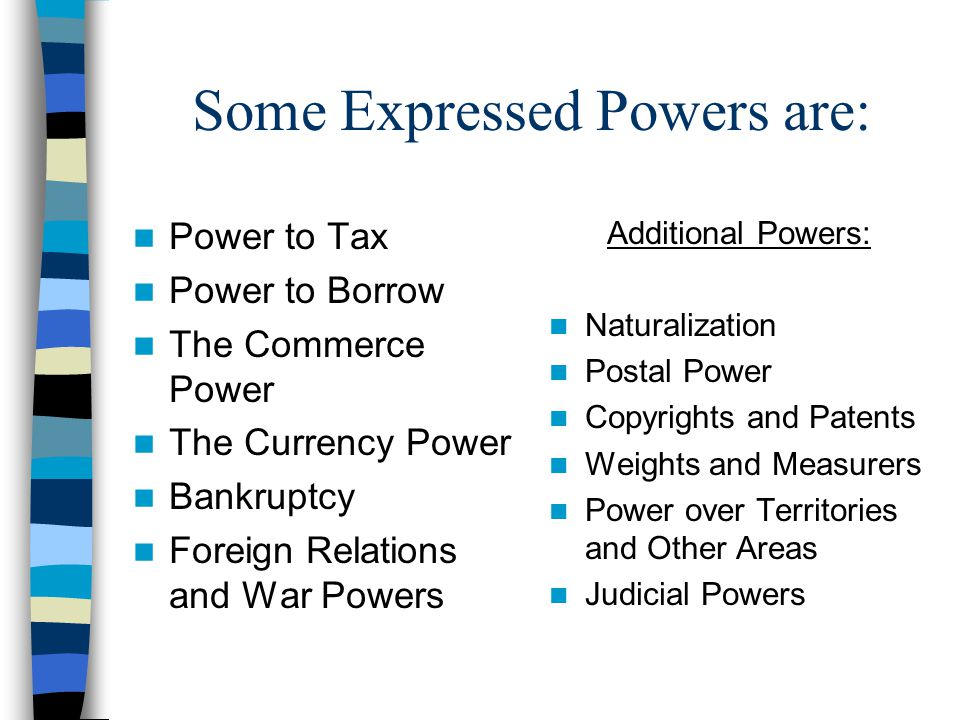 Some Expressed Powers are: