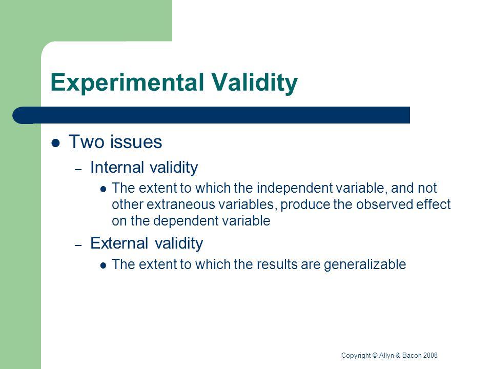Experimental Validity