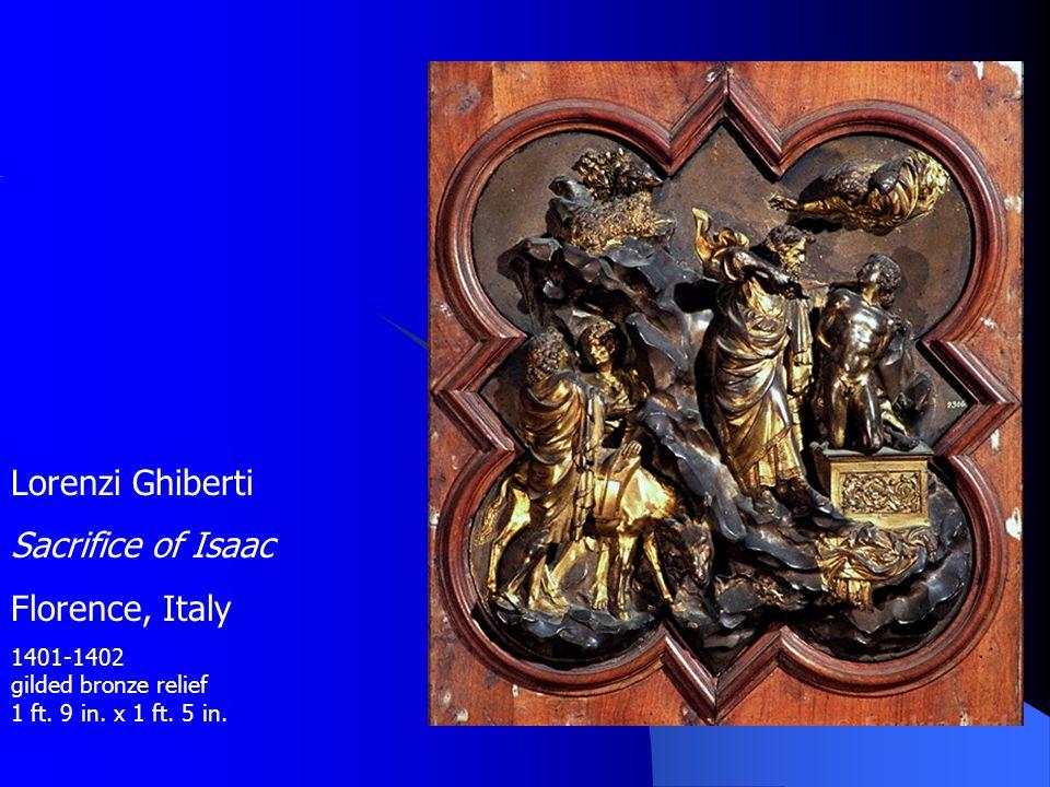 Lorenzi Ghiberti Sacrifice of Isaac Florence, Italy
