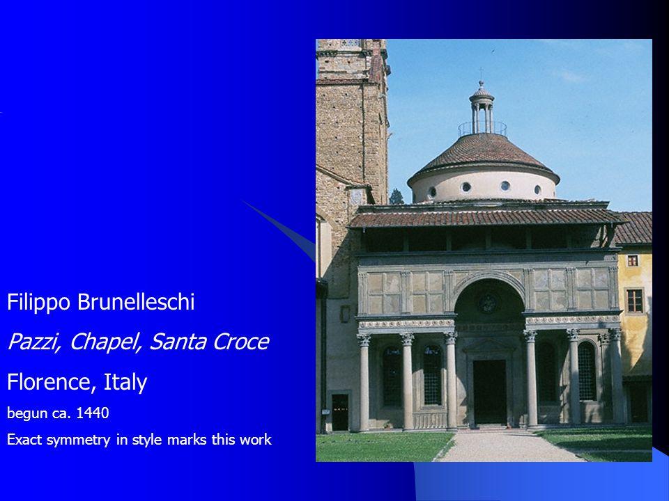 Pazzi, Chapel, Santa Croce Florence, Italy