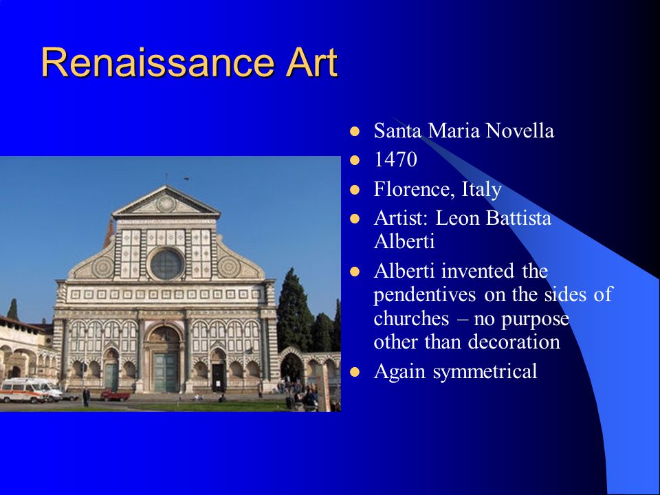 Renaissance Art Santa Maria Novella 1470 Florence, Italy