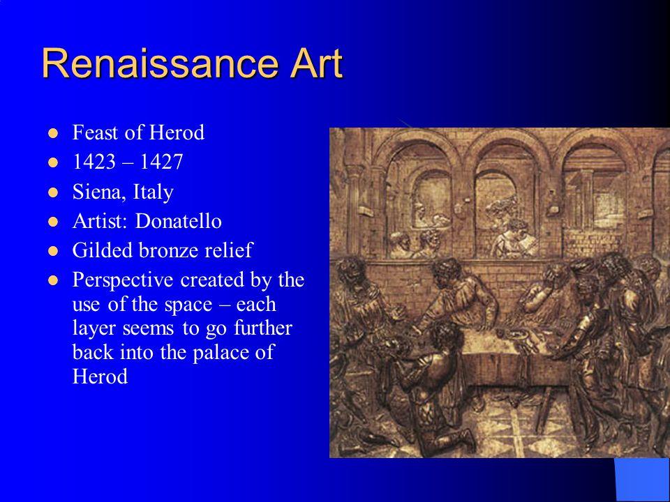 Renaissance Art Feast of Herod 1423 – 1427 Siena, Italy