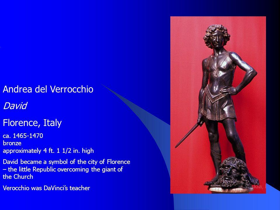 Andrea del Verrocchio David Florence, Italy