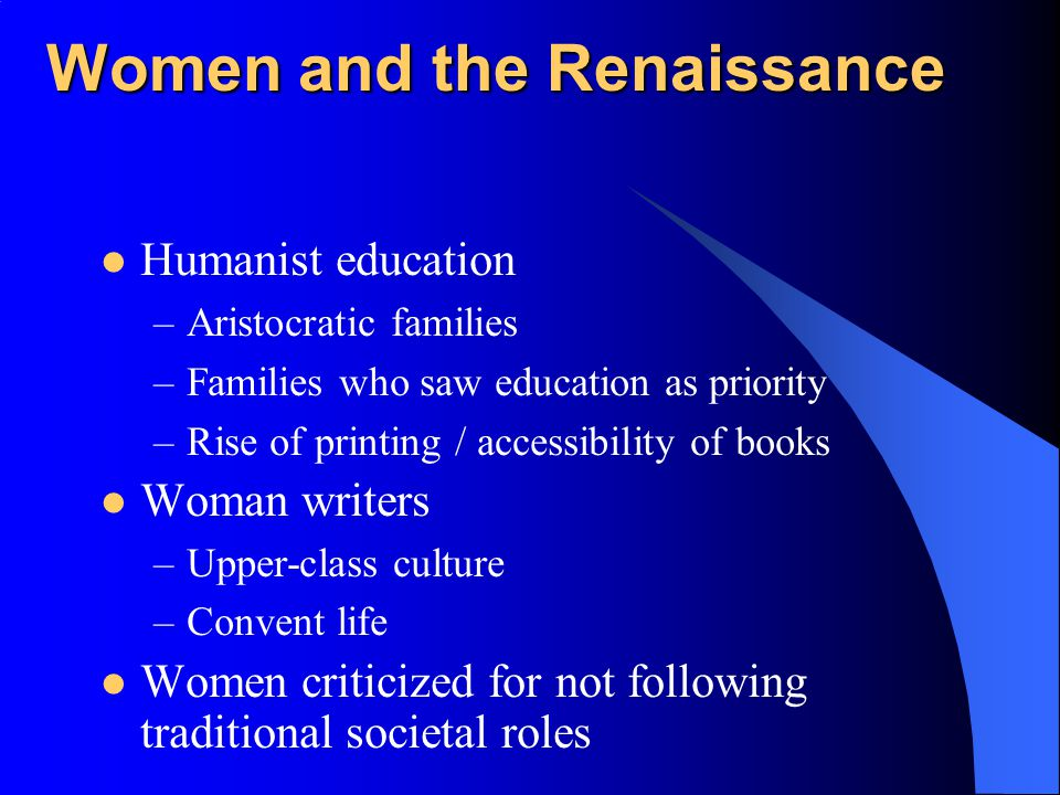 Women and the Renaissance