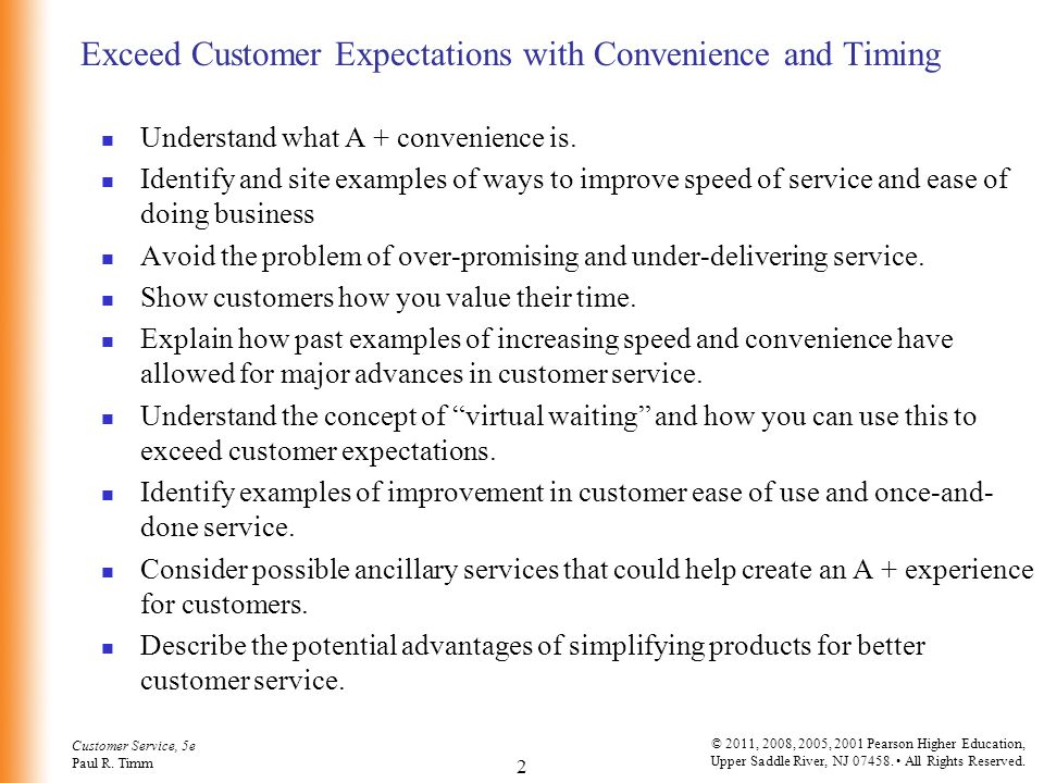 Exceed Customer Expectations with Convenience and Timing