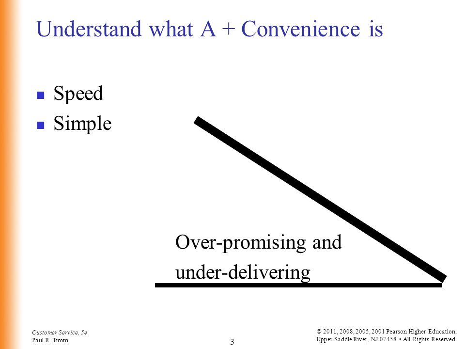 Understand what A + Convenience is