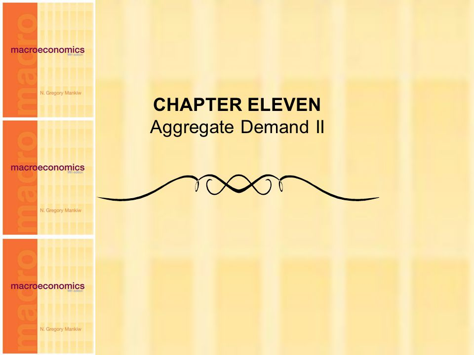 CHAPTER ELEVEN Aggregate Demand II