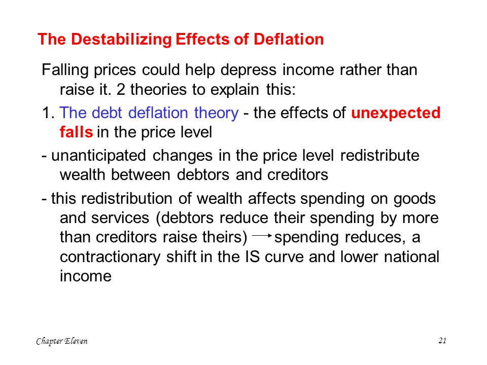 The Destabilizing Effects of Deflation