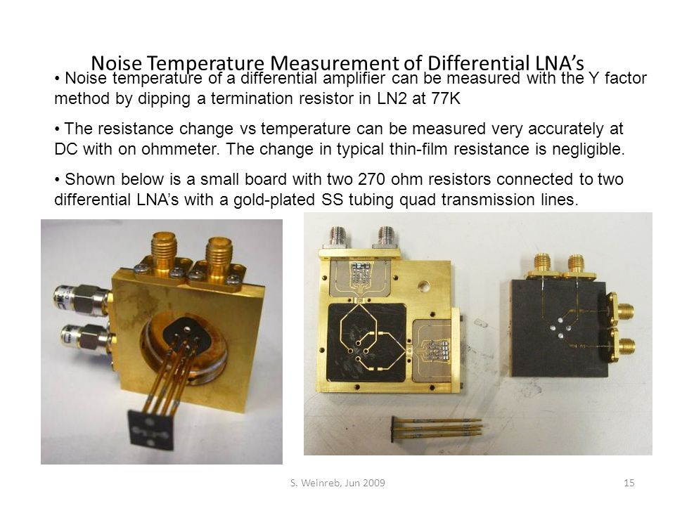 Noise Temperature Measurement of Differential LNA's