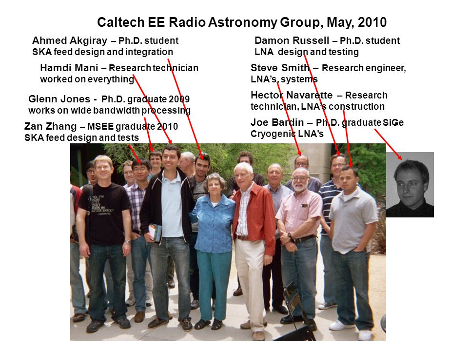 Caltech EE Radio Astronomy Group, May, 2010