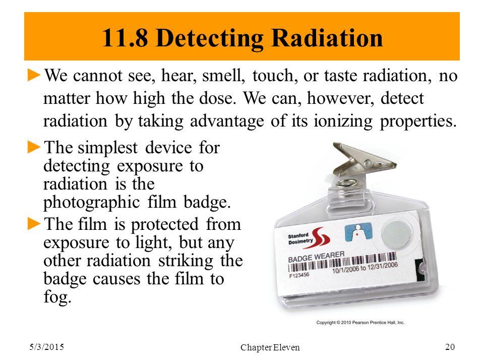 11.8 Detecting Radiation