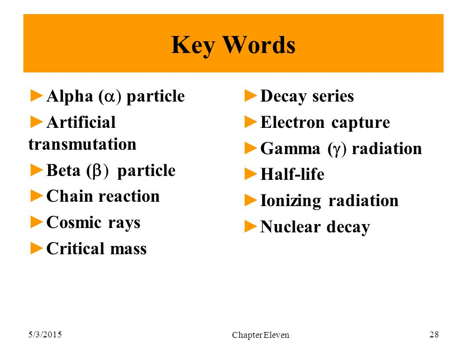 Key Words Alpha (a) particle Artificial transmutation