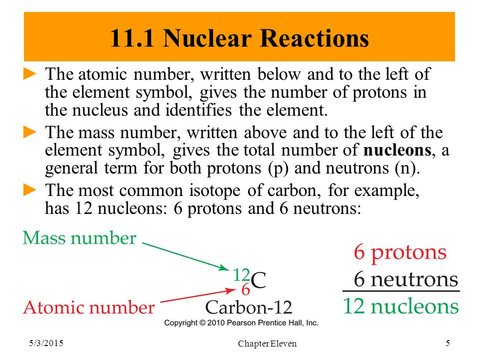 11.1 Nuclear Reactions