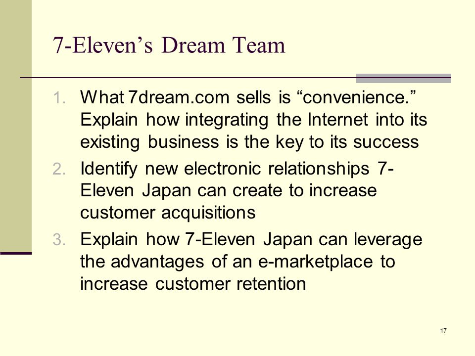 7-Eleven's Dream Team