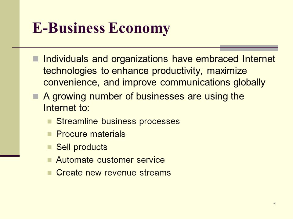 E-Business Economy
