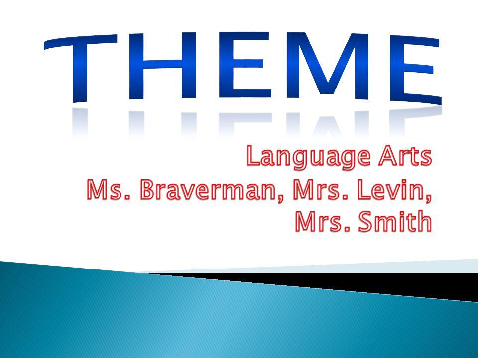 Language Arts Ms. Braverman, Mrs. Levin, Mrs. Smith