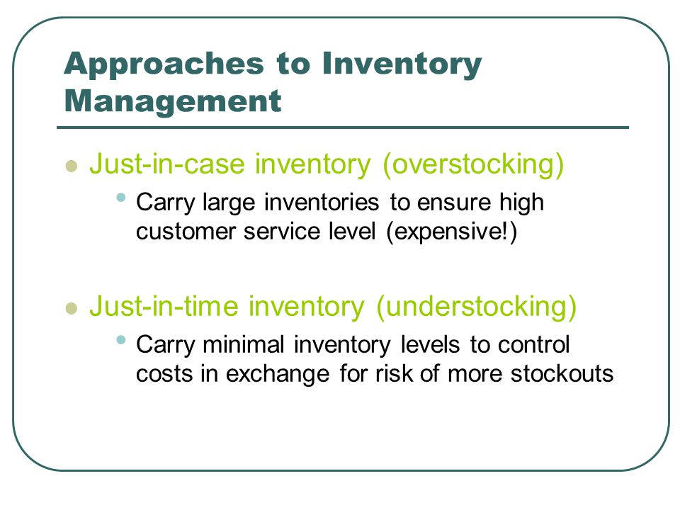 Approaches to Inventory Management