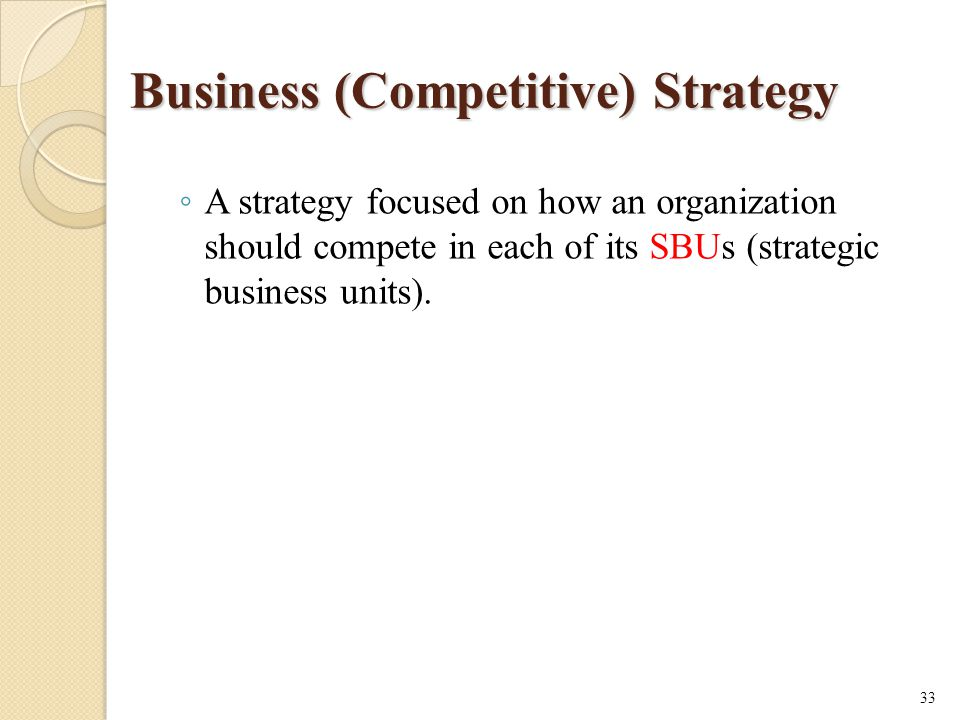 Business (Competitive) Strategy