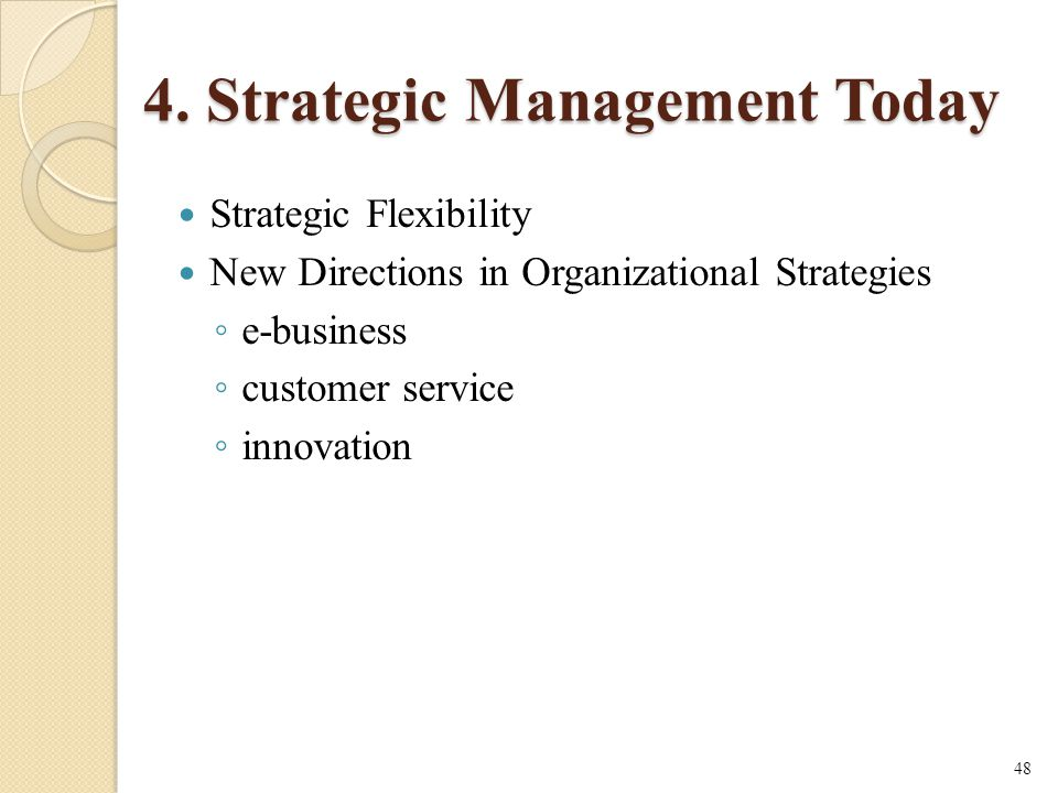4. Strategic Management Today