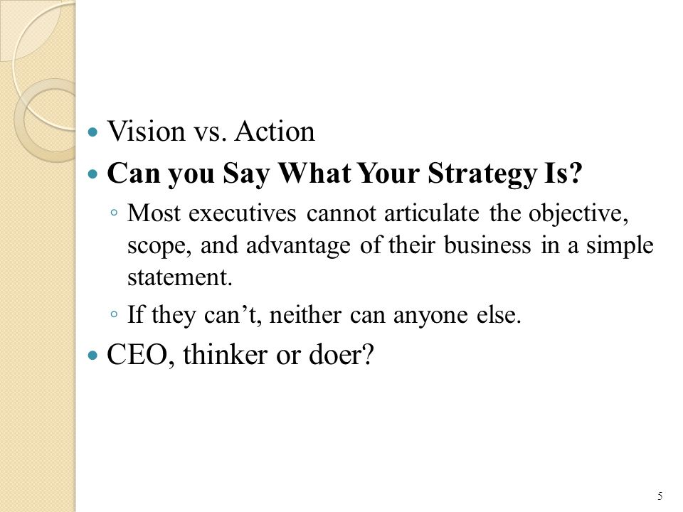 Can you Say What Your Strategy Is