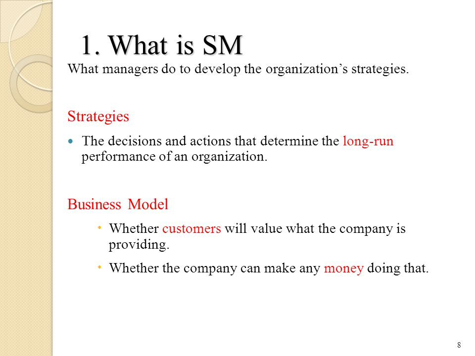 1. What is SM Strategies Business Model