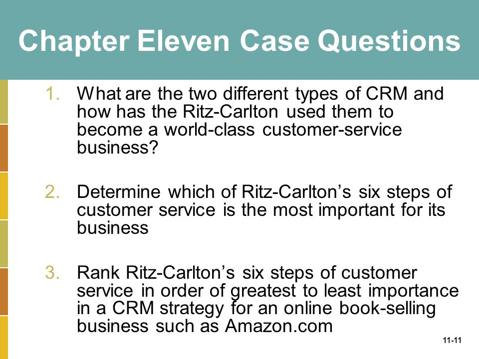 Chapter Eleven Case Questions