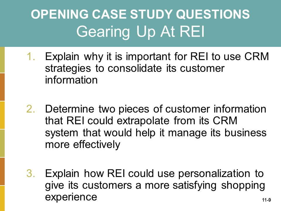 OPENING CASE STUDY QUESTIONS Gearing Up At REI