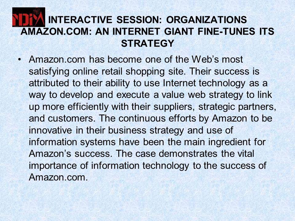 INTERACTIVE SESSION: ORGANIZATIONS AMAZON