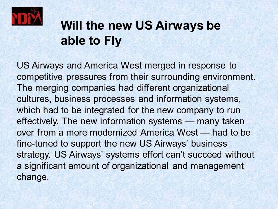 Will the new US Airways be able to Fly