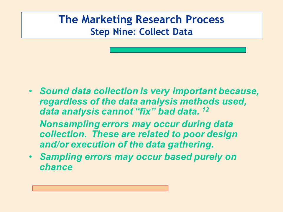 The Marketing Research Process Step Nine: Collect Data