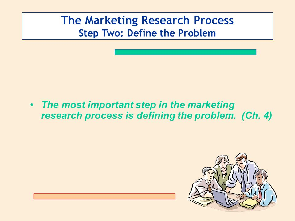 The Marketing Research Process Step Two: Define the Problem
