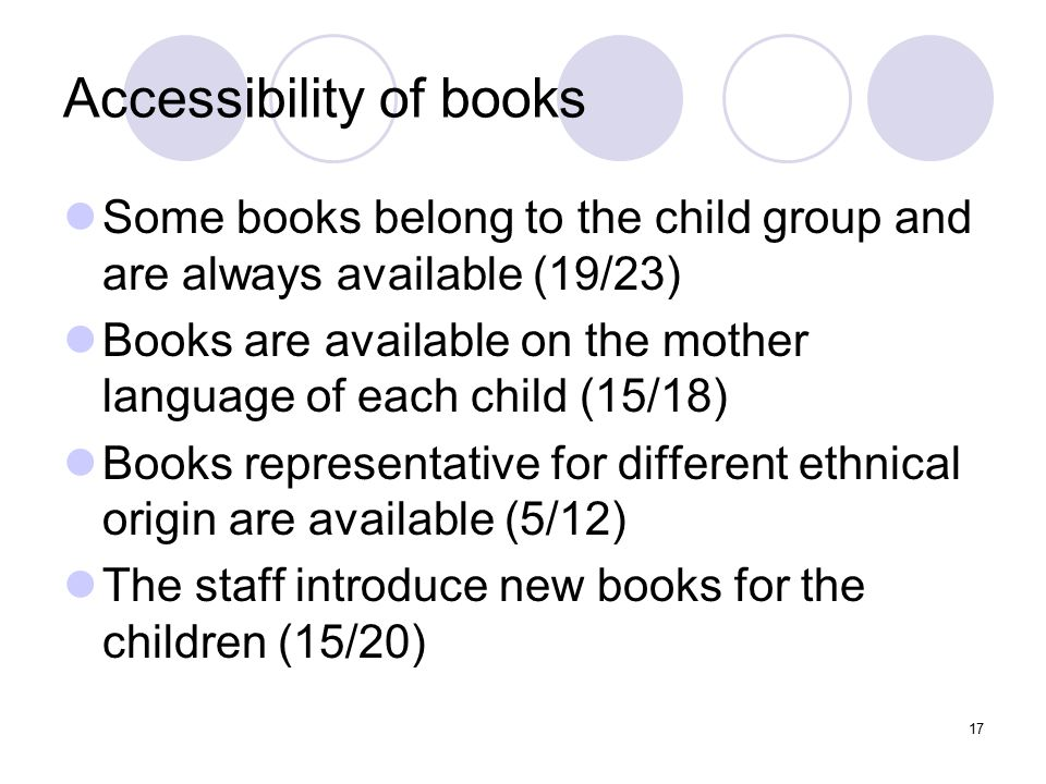 Accessibility of books
