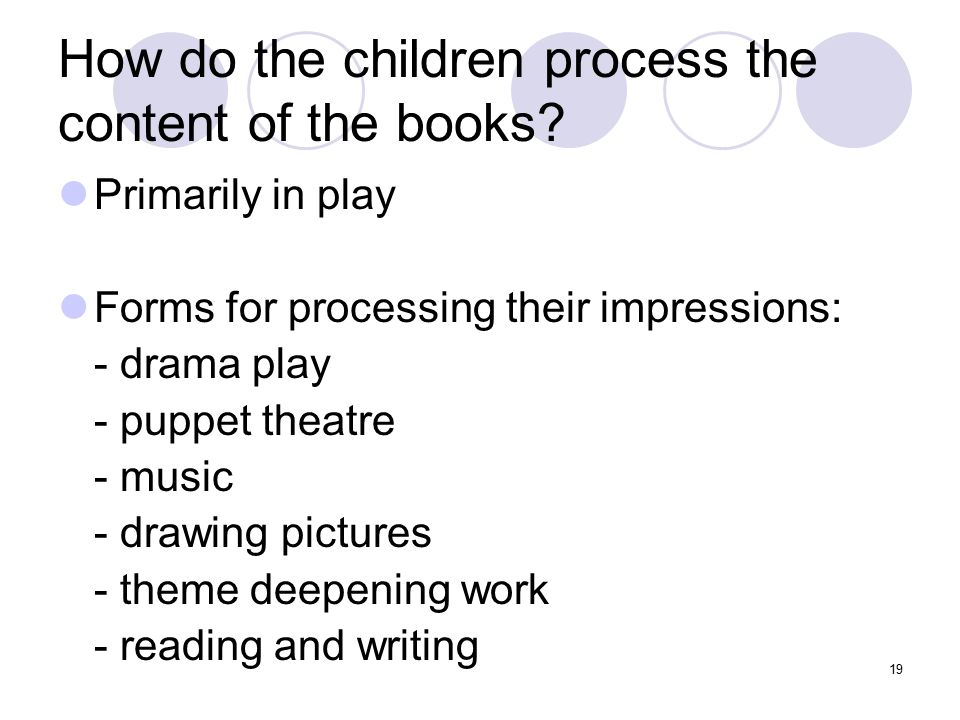 How do the children process the content of the books